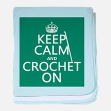 Keep Calm and Crochet On baby blanket