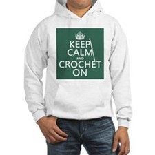Keep Calm and Crochet On Jumper Hoody