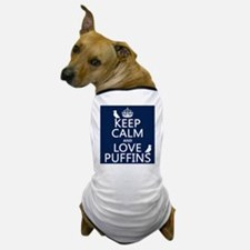 Keep Calm and Love Puffins Dog T-Shirt