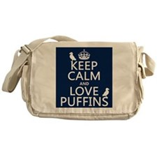 Keep Calm and Love Puffins Messenger Bag