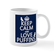 Keep Calm and Love Puffins Mugs