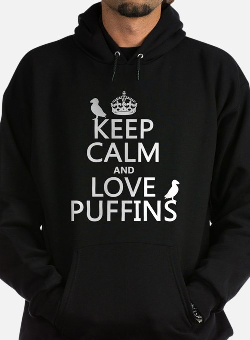 Keep Calm and Love Puffins Hoody