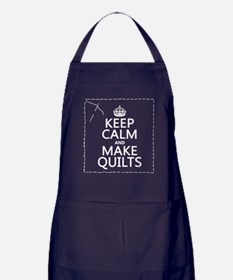 Keep Calm and Make Quilts Apron (dark)
