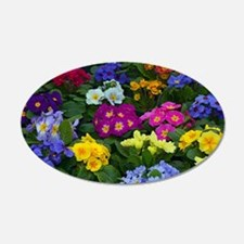 Colorful winter pansies Wall Decal