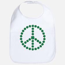 Irish shamrock peace Bib