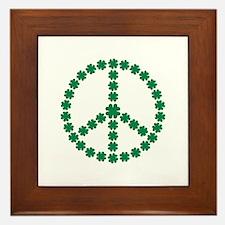Irish shamrock peace Framed Tile