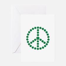 Irish shamrock peace Greeting Card