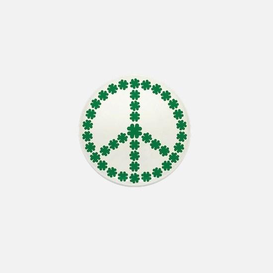 Irish shamrock peace Mini Button
