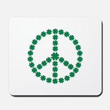 Irish shamrock peace Mousepad
