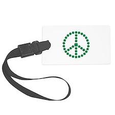 Irish shamrock peace Luggage Tag