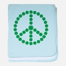 Irish shamrock peace baby blanket