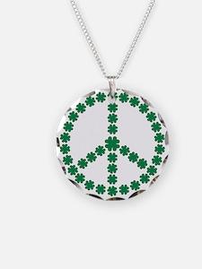 Irish shamrock peace Necklace