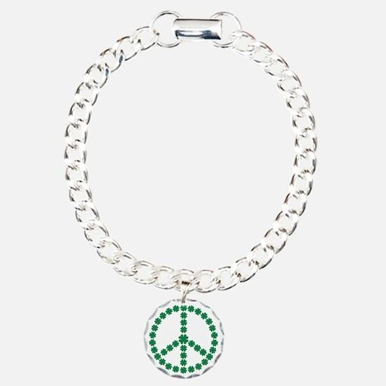 Irish shamrock peace Bracelet