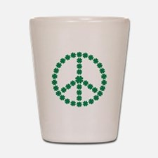 Irish shamrock peace Shot Glass
