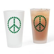Irish shamrock peace Drinking Glass