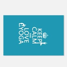 Keep Calm and Love Yoga Postcards (Package of 8)