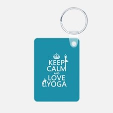 Keep Calm and Love Yoga Keychains