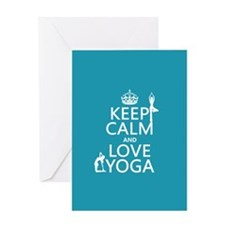 Keep Calm and Love Yoga Greeting Cards