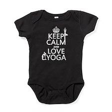 Keep Calm and Love Yoga Baby Bodysuit