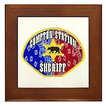 Compton Sheriff Framed Tile