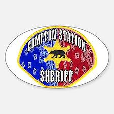 Compton Sheriff Oval Decal