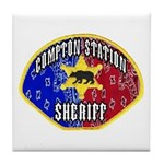 Compton Sheriff Tile Coaster