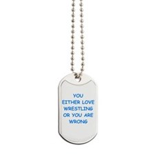 WRESTLING Dog Tags