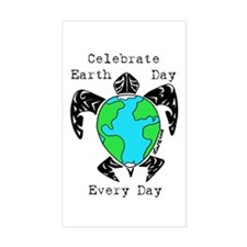 Earth Day Rectangle Decal