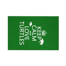 Keep Calm and Love Turtles Magnets