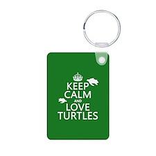 Keep Calm and Love Turtles Keychains