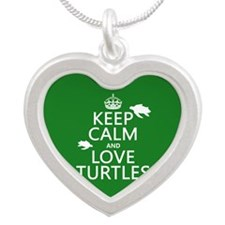 Keep Calm and Love Turtles Necklaces