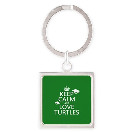 Keep Calm and Love Turtles Keychains