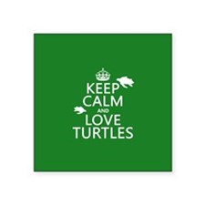 Keep Calm and Love Turtles Sticker