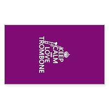 Keep Calm and Love Trombone Decal