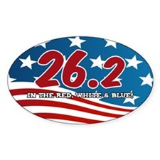 """26.2 in the Red, White & Blue"" Mar Decal"