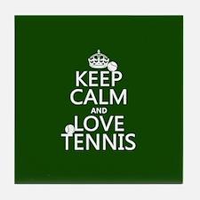 Keep Calm and Love ... Tile Coaster