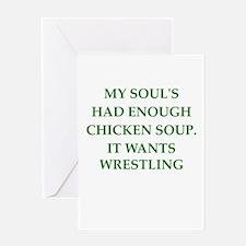 wrestling Greeting Cards