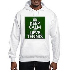 Keep Calm and Love Tennis Jumper Hoody