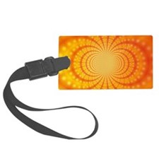 Orange Abstract Art Luggage Tag