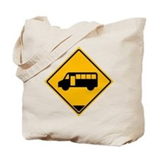 Yellow Bus Stop Tote Bag