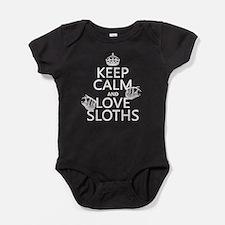 Keep Calm and Love Sloths Baby Bodysuit