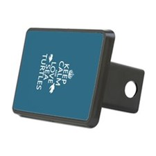 Keep Calm and Love Sea Turtles Hitch Cover