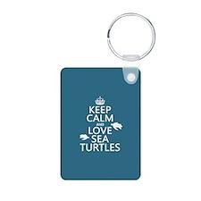 Keep Calm and Love Sea Turtles Keychains