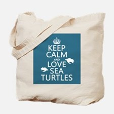 Keep Calm and Love Sea Turtles Tote Bag