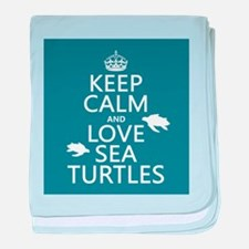 Keep Calm and Love Sea Turtles baby blanket
