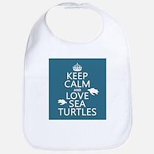 Keep Calm and Love Sea Turtles Bib
