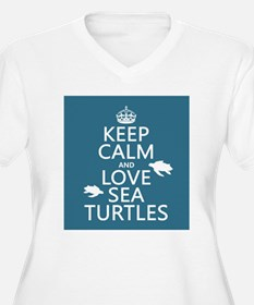 Keep Calm and Love Sea Turtles Plus Size T-Shirt