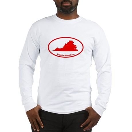 Virginia RED STATE Long Sleeve T-Shirt