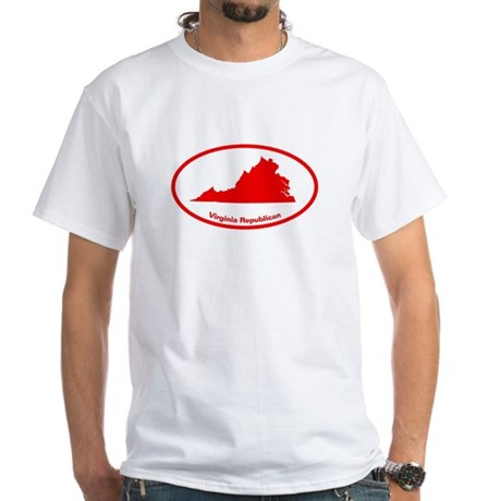 Virginia RED STATE White T-Shirt