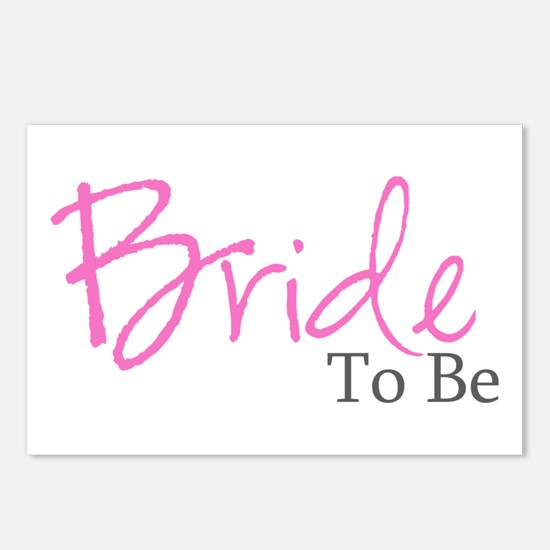 Bride To Be (Pink Script) Postcards (Package of 8)